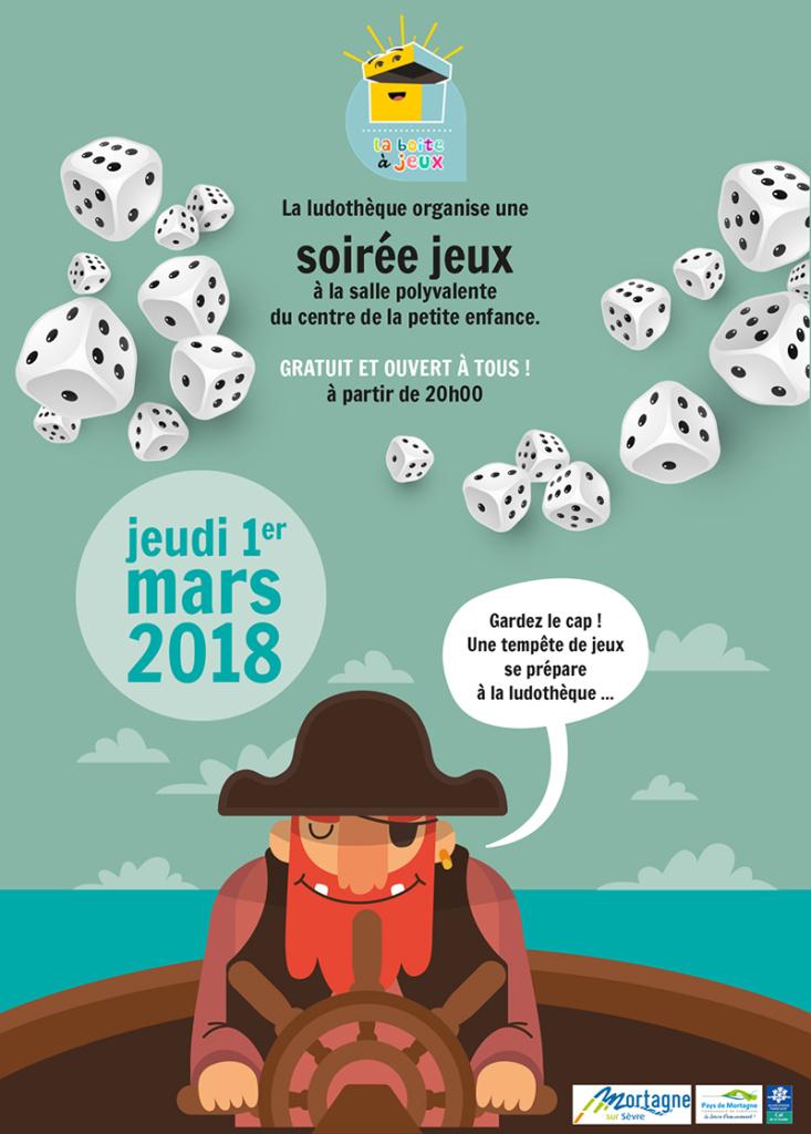 Soirée jeux de société Ludothèque la boite à jeux le 1er mars 2018