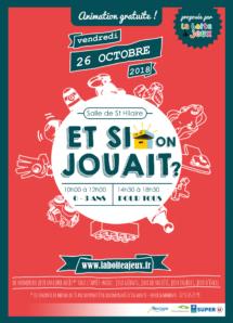 Journée jeux Ludothèque la boite à jeux le 26 octobre2018